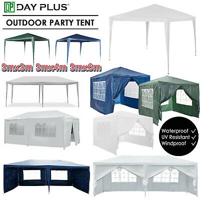 With Full Sidewall Party Tent Outdoor PE Garden Gazebo Marquee Canopy Awning UK