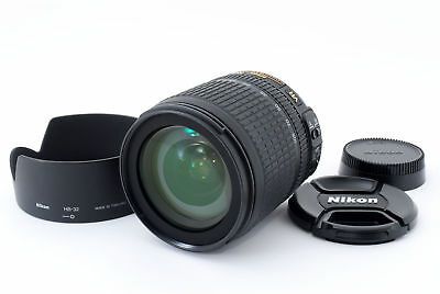 Nikon DX AF-S Nikkor 18-105mm f/3.5-5.6G ED VR w/Hood/Caps Exc++ from Japan #954