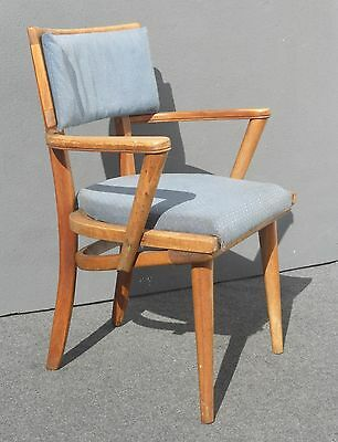 Vintage Danish Mid Century Modern Blue Accent Chair