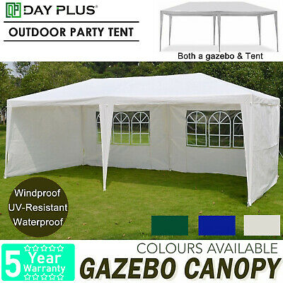 With Side Panel Party Tent Outdoor PE Garden Gazebo Marquee Canopy Awning 3x6