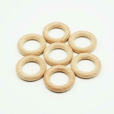 1pcs Natural Beech Wood Teethers Rings Baby Teething Nursing Molar Stick Toy