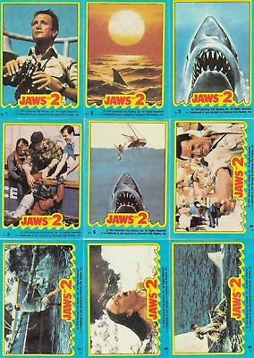 Jaws II (2) The Movie - Complete Trading Card Set (59+11) - 1978 Topps - NM