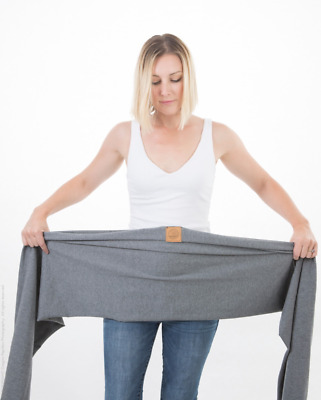 2 Organic Cotton Wrap Sling Baby Carriers GREY & WHITE - BUY TWO AND SAVE!