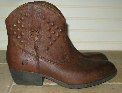 ab17ebc6dca7 NEW - MIZ Mooz Womens size EU 40 US 9 Samba Zip Ankle Boot Brown ...