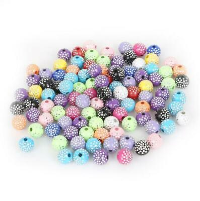 100pcs Colorful Acrylic Round Beads Handmade accessories DIY bracelet 8mm