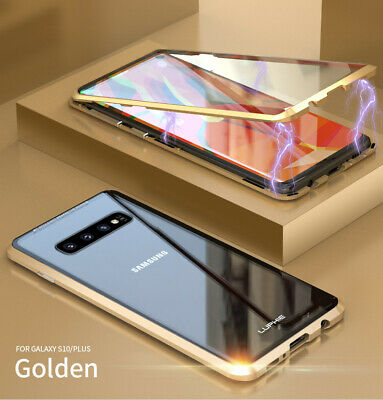 Magnetic Adsorption Case For Samsung S9 S10 S10 Plus Double Sided Tempered Glass