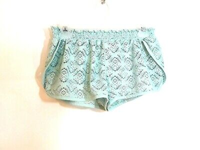 b96732c46f2be Ocean Pacific OP Women Juniors Size M 7-9 LACE SWIM COVER UP SHORTS  Wintergreen