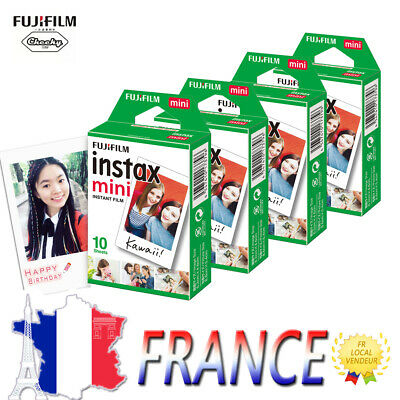 40 Photos Fuji Instax Mini Film Blanc Pour Fujifilm 90 8 8s 7s 50 9 90 Polaroid