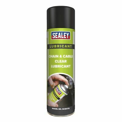 Sealey SCS017S Chain & Cable Clear Lubricant 500ml