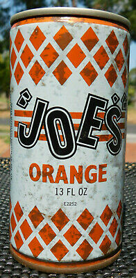 Vintage  Very Rare Diamond Joes Orange Soft Drinks  13 Flo Oz Can Old Bottle