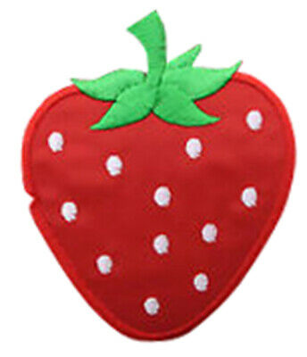 2x 14cm RED STRAWBERRY TRIMMING Embroidered Sew Iron On Cloth Patch  APPLIQUE