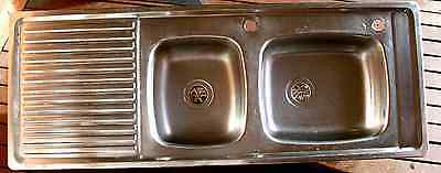 Clark Stainless Steel One And A Half Tub Kitchen Sink And Drainer