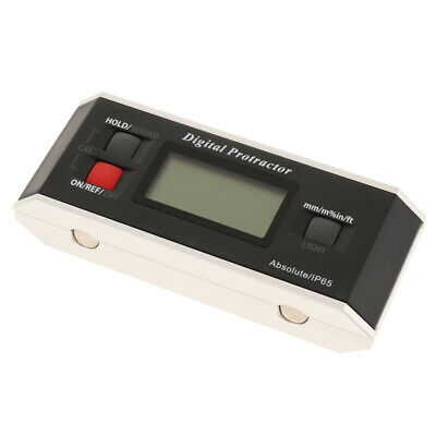 Digital Protractor Inclinometer Angle Gauge LCD Display Plastic Material