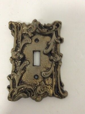 Vintage Ornate Floral Metal Light Switch Plate Cover