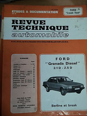Revue Technique Automobile - Ford Granada Diesel 2.1 D - 2.5 D Berline Et Break