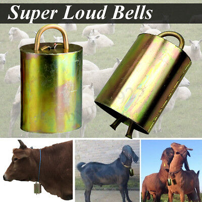 Super Loud Grazing Copper Bells Sheep Dog Cow Horse Animal Brass Farm Outdoor