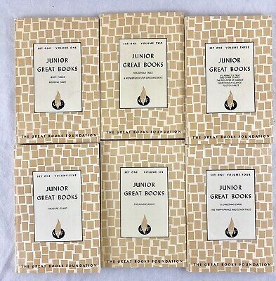 The Great Books Foundation 1963 Children's Junior Great Books Set 1 Lot Of 6