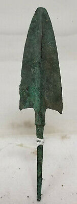 Antique Early Greek Roman Antiquity Hellenistic Arrow Head Point Bronze Spear