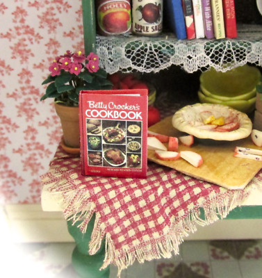BETTY CROCKER'S COOKBOOK Miniature Book Dollhouse 1:12 Scale Book Opens Readable