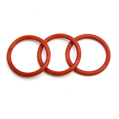 4mm Red Food Grade Silicone HIGH TEMP Gasket Washers O-Ring Seal OD=15~45mm
