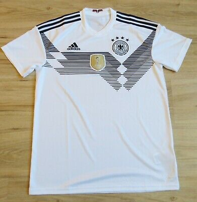 d5ad94039 NWT! ADIDAS GERMANY Home Soccer JERSEY ClimaCool FIFA World Champs ...