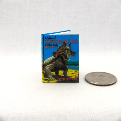 A GALLERY OF DINOSAURS Illustrated Dollhouse Miniature Book 1:12 Scale Dinosaur