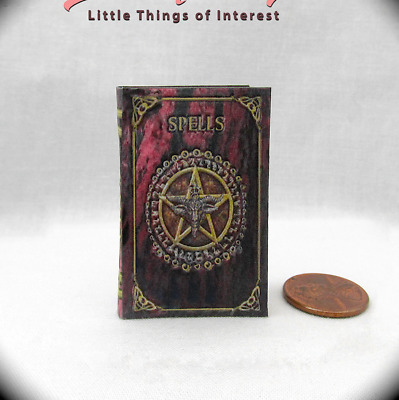 THE BOOK OF SHADOWS SPELL BOOK 1:6 Scale Readable Illustrated Miniature Book
