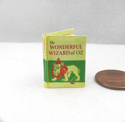 THE WONDERFUL WIZARD OF OZ Illustrated Miniature Dollhouse Book 1:12 Scale Baum