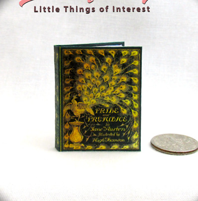 PRIDE AND PREJUDICE 1:6 Scale Book Readable Illustrated Miniature Book Playscale