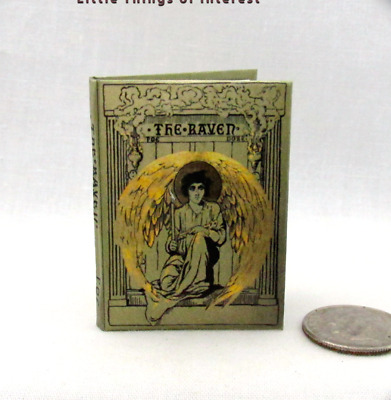 THE RAVEN By Edgar Allen Poe 1:6 Scale Miniature Illustrated Readable Book