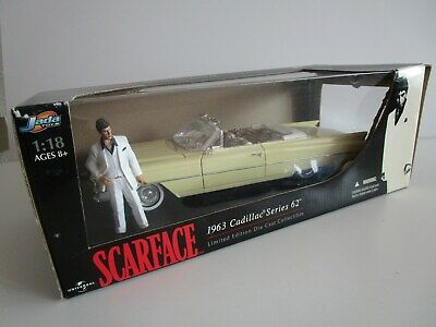 Scarface 1963 Cadillac Series 62 Die Cast Collectible 1/18 Jada Toys