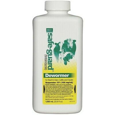 Safeguard Wormers 07820310 Safe-Guard 10% Suspension Cattle And Goat Dewormer