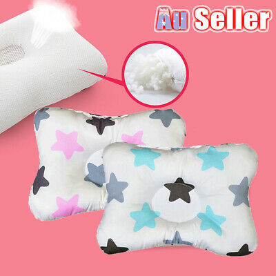 Baby Infant Newborn Prevent Flat Head Neck Syndrome Support Square Pillow HOT BO