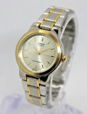 Casio LTP1131G-9A Ladies Two-Tone Stainless Steel Dress Watch Gold Dial