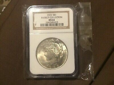 1923 Peace Silver Dollar - MS64 NGC - Professionally Authenticated & Graded