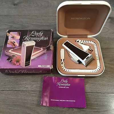 Vintage Lady Remington De Luxe 5000 Electric Shaver Deluxe Boxed Working Prop
