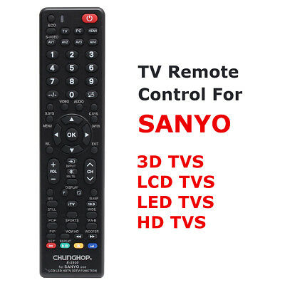 Universal Smart LCD LED HDTV 3DTV Remote Control For SANYO Replacement Control !