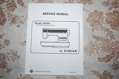 Service Manual on CD for Singer Athena & Touch-Tronic 2005A Sewing Machines