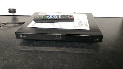 Lg Bp125 Black Slim Line Usb Blu-Ray Dvd Cd Player,vgc,cw Remote Control +Manual