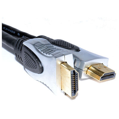 1 Meter v1.4 HDMI Cable Ultra Pure Premium 4K High Speed 1080p HD 3D Gold Plated