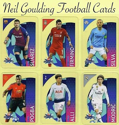 Champions League CRYSTAL 2018-2019 ☆ PLASTIC FOOTBALL CARDS ☆ #1 to #100