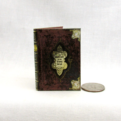 THE HISTORY OF THE TIME WAR 1:6 Scale Readable Illustrated Miniature Book Doctor