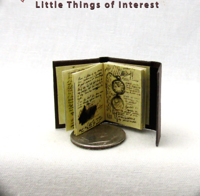 JOURNAL OF IMPOSSIBLE THINGS Dollhouse Miniature Book 1:12 Scale Illustrated