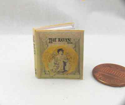 THE RAVEN Miniature Book Dollhouse 1:12 Scale Readable Illustrated Book POE