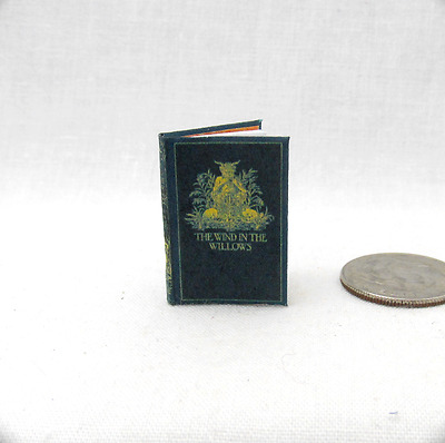 THE WIND IN THE WILLOWS Miniature Book Dollhouse 1:12 Scale Readable Illustrated