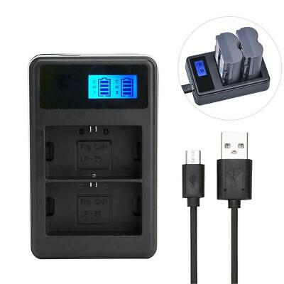 BP-511 BP-511A LCD Dual Battery Charger for Canon EOS 40D 300D 5D 20D 30D 50D