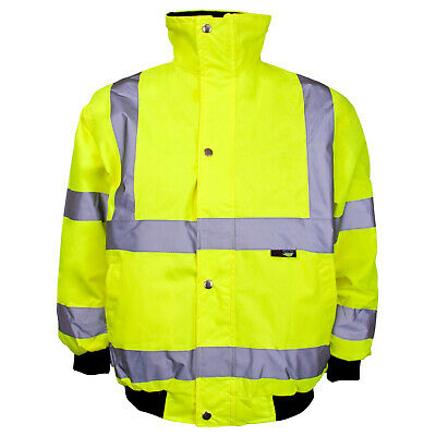 Kids High Visibility Reflective Safety Hi Vis Bomber Jacket Junior Boys Girls