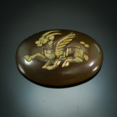 Antique Neat Carnelian  Detail  Mythical Flying Goat  intaglio Signet bead