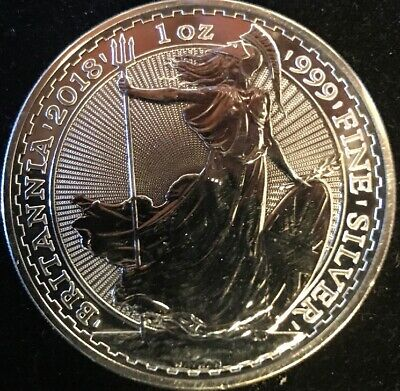 2018 Great Britain 1oz Silver Britannia (E4:Tube)