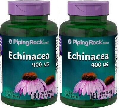 2X Echinacea 400 mg x 180 (360) Capsules PipingRock - 24HR DISPATCH